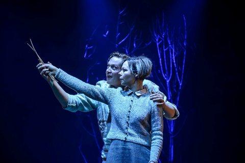 """Nominert: Johan Haugenfor lysdesign og Rolf-Erik Nystrøm er nominert for musikktil Fuglane Boldet er tatt på premiere på Nordland Teaters oppsetning """"Fuglane"""" under Vinterlysfestivalen 2019."""