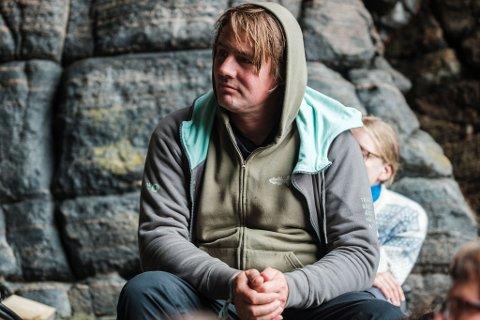 Stolt: Erlend Mogård Larsen er stolt over å ha vært med på å bygge opp Trænafestivalen til det den er i dag.