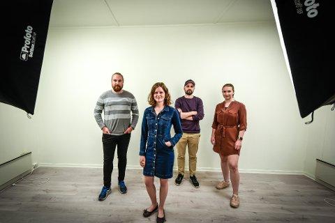 Tonje Anette Vonstad startet TV Klipp og har nå tre-fire ansatte. f.v. Benjamin Strøm Bøen Tonje Anette Vonstad,  Martin Hansen og Birgitte Isabell Holven.