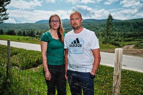 Roy Aastrøm og Helene Hansen hytte Grønfjelldalen
