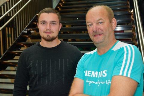 Studentene Jørgen Solbakk (26) og Frank Bruvold (52) er klare for start på Moderne automatisering.