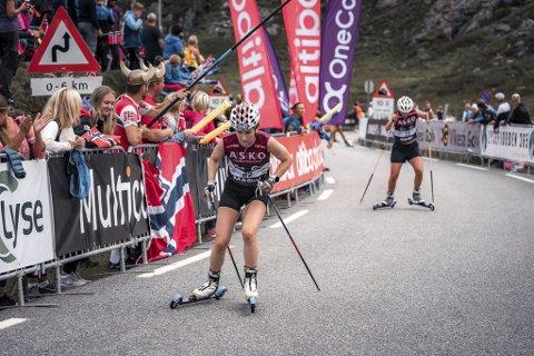 I form: Marthe Kråkstad Johansen leverte et meget godt løp på Blinkfestivalen lørdag. Foto: Sondre Ringen