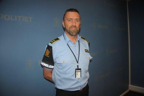 FORBEREDT: Operasjonsleder Morten Augensen forteller at politiet er forberedt på å håndtere større og krevende hendelser.