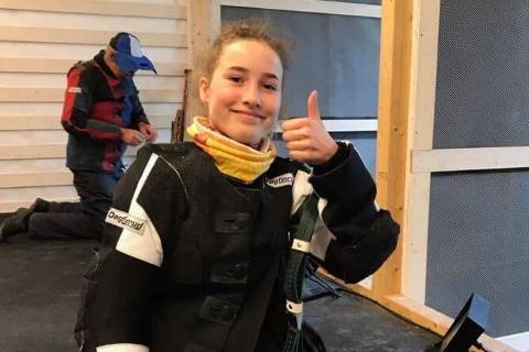 Kaja Helene Remmen fra Nesna skytterlag skjøt 100 i finalen på bane for juniorer.