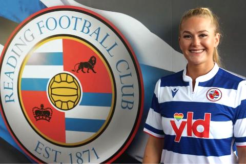 Ranajenta Lisa-Marie Karlseng Utland har nå scoret sitt første mål for sin nye klubb Reading FC i England. Målet sikret laget seieren.