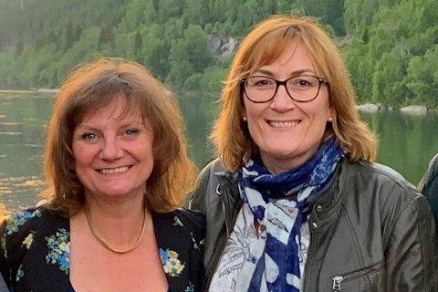 Franziska Wika (t.v.) og Hanne Nora Nilssen vil fortsette kampen mot flyplass på Hauan.