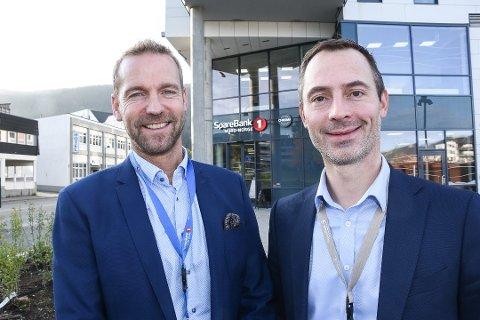 Tor Magne Aanonli, til høyre, blir sjef for bedriftsmarkedet i den nye banken. Her sammen med Petter Høiseth, tidligere konsernsjef i Sparebanken Nord-Norge.