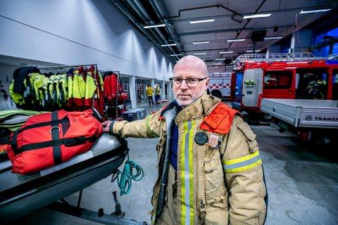 BEREDT: Brigadeleder i Tromsø brann og Redning Håvard Malmedal var på vakt da alarmen gikk på julaften.