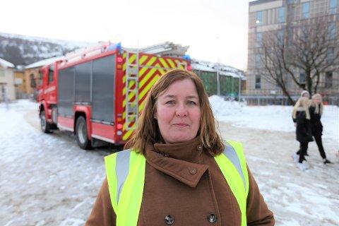 – Jeg ønsker at politikerne og administrasjonen setter seg ned og ser på reguleringsplanen en gang til, sier verneombud Berit Limstrand etter brannøvelsen på Moheia.