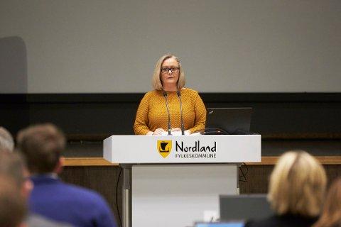 Gruppeleder Mona Nilsen fra Nordland Arbeiderparti.