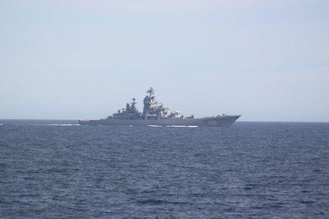 Russland driver øvelse utenfor Helgelandskysten.