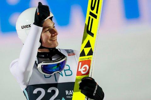 Robin Pedersen under RAW AIR verdenscup i skihopp i Lysgårdsbakken på Lillehammer. Foto: Geir Olsen / NTB scanpix