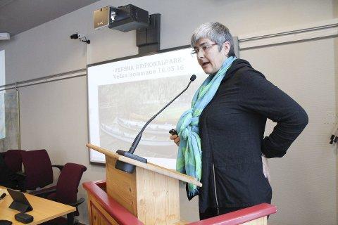 SKUFFET: Ellen Schjølberg har ikke mistet motet selv om hun er skuffet over at regjeringen ikke bevilger penger til to strekninger som står ufullført helt sør i Grane.