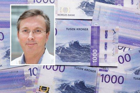 Enkle penger: Ved å flytte penger fra en konto til en annen vil du tjene penger slik situasjonen er akkurat nå. Høyskolelektor ved BI, Dag Jørgen Hveem, gjør utregningen i saken. Foto: Scanpix/BI