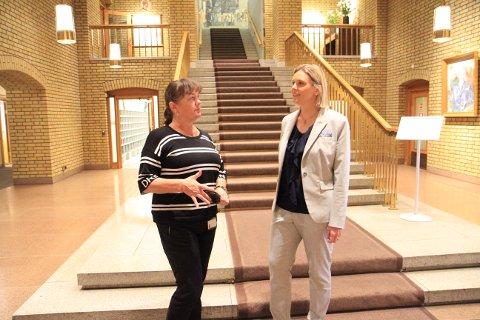 Privat: Stortingsrepresentantene Hanne Dyveke Søttar og Sylvi Listhaug vil legge til rette for drift på Aker, men understreker at Stortinget ikke kan sikre at et privat selskap ikke legges ned.