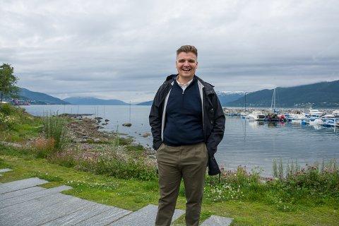 Fredrick Leo Myrvang Larsen (32), ny regnskapssjef i Nova Sea.