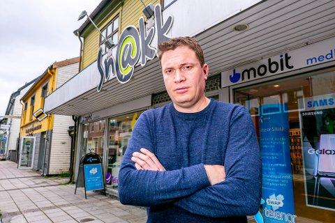 MISBRUKT: Gaute Beyer Bergland, daglig leder Snakk i Tromsø .