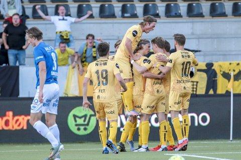 Europa-jubel? 27. august spiller Bodø/Glimt sin første av fire kvalifiseringskamper til Europa League. Avisa Nordland er eksklusiv rettighetshaver til kampene. Foto: Mats Torbergsen / NTB Scanpix