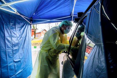 Teststasjonen vil være klar så snart helsepersonellet er på plass.
