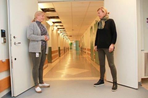 LEDELSE: Elin Grønvik (t.v.) blir konstituert som enhetsleder ved sykehuset i Mosjøen. Nåværende enhetsleder Tanja Pedersen blir konstituert i den samme stillingen, ved sykehuset i Sandnessjøen.