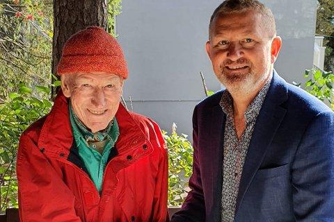 Olav Thon og Roald Dolmen. Foto: Gaia Salmon