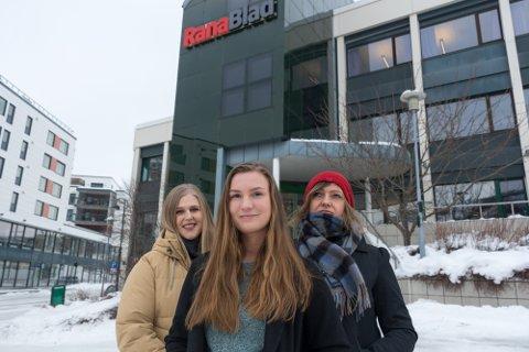 F.v. Vilde Haugen, Marita Skoglund og Maiken Johansen skal sørge for mer stoff for yngre lesere.