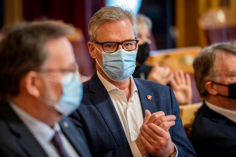 Oslo 20210217.  Stortingsrepresentant Hans Andreas Limi (Frp) under muntlig spørretime på Stortinget. Foto: Heiko Junge / NTB