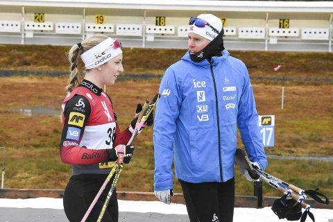 Landslagstrener på damenes elitelandslag i skiskyting, Sverre Huber Kaas, ser at det gror godt bak de beste i Norge. Ikke minst har han tro på Emilie Ågheim Kalkenberg (bildet) og Marthe Kråkstad Johansen, som begge er med videre på landslag.