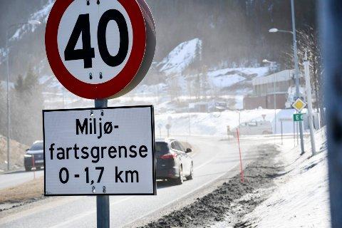 Det er tirsdag innført 40-sone på E6 gjennom Svortdalen forbi Mo i Rana sentrum.