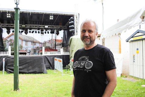 Krevende: Roar Møller er positivt innstilt til årets arrangement og neste års byfest, men erkjenner at det har vært mye jobb med årets byfest.