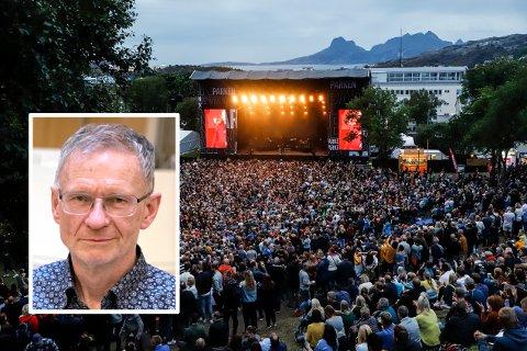 Smittevernoverlege Kai Brynjar Hagen ønsker å få prøvd ut PCR-massetesting i Bodø, og mener konsertene kan gjennomføres med stor grad av trygghet.