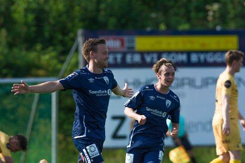 Søndag var første runde av årets cup i gang. Her er Rana FKs Kim André Kristiansen Råde under dagens kamp mot Bodø/Glimt på Sagbakken.