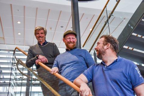 GRÜNDERE: Svein Erik Figved, Terje Simonsen og Jan Fredrik Råknes er tre av gründerne bak Gen2 Energy.