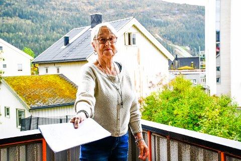 MENER BYGGET VIL ØDELEGGE: – Et slikt bygg vil ødelegge utseende på hele området. Vi har et vakkert sted her, som er rolig, sier Anne Cathrine Tvete, beboer ved Mo Bo og servicesenter.