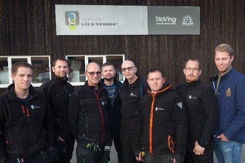 De ansatte ved Nordland Lås & Sikkerhet AS i Mo i Rana.