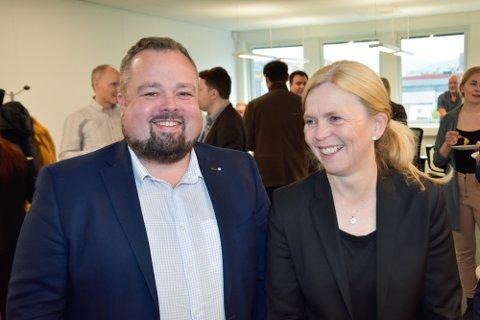RU-direktør Ole M. Kolstad og Tove Nilsen Ljungquist , konserndirektør for drift.