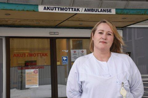 Akuttsykepleier Unni Andersen (50) er blant flere lokale søkere til jobben som klinikksjef akuttmedisinsk klinikk.
