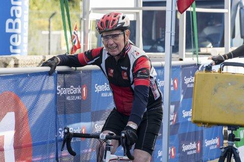 Trimmer: Harry Egil Hansen liker å holde seg i form, med både sykling og langrenn.