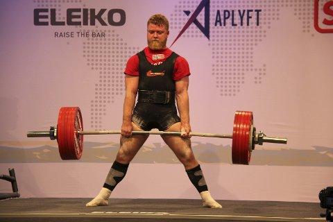 Nr 7: Nikolai Slettnes ble nummer sju i VM i styrkeløft denne helga.  Foto: Jørgen Haug