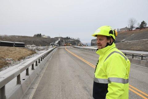 I rute: Prosjektdirektør i Nye Veier, Øyvind Moshagen, forteller at arbeidet med E6 er i rute.
