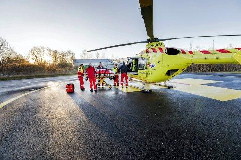 LUFTAMBULANSE: Rapport anbefaler ny luftambulanse i Innlandet, men vil avvente ny sykehusstruktur.