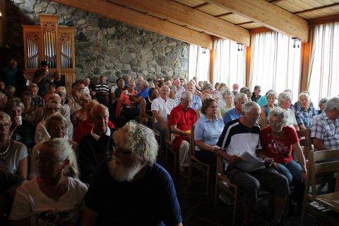 Aktiv velforening: Sjusjøen vel har mange medlemmer, og er en velforening med stor aktivitet. Her fra et tidligere årsmøte i Sjusjøen Fjellkirke.