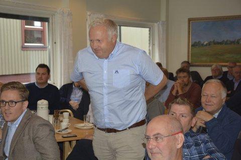 Jobbskifte: Svein Håvard Sørum, her fra et frokostmøte i Næringsbanken tidligere, går tilbake igjen til sin tidligere arbeidsgiver etter bare kort tid som banksjef i Næringsbanken.  Foto: Gaute Freng