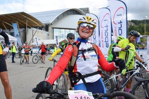 Astrid Lehne var meget fornøyd etter målgang på Lillehammer.