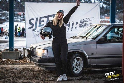 Jannicke Johansen fra Gaupen kjemper om å bli Norges råeste bilfører.
