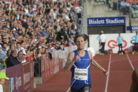 Mauritz Kåshagen satte ny rekord på 300 meter innendørs søndag. Bildet er tatt ved en annen anledning,