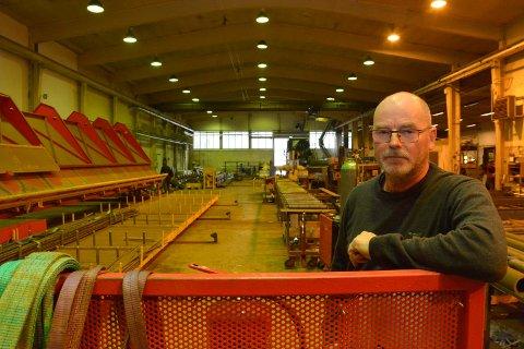 Avvikler: Uten lokaler og nok ressurser for å flytte produksjonen til annet sted ser ikke Erik Neby annen mulighet enn å avvikle driften i Stål øst.