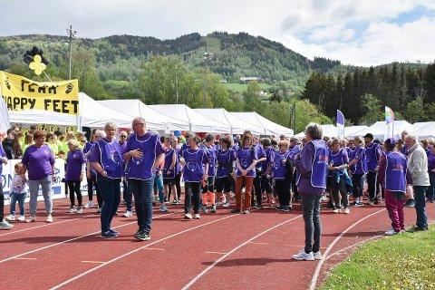 REKORD: Det var deltakerrekord under årets stafett på Sveum.