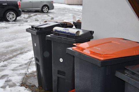 SØPPELDUNKER: I dag kan søppeldunkene stå inntil 30 meter fra kjørbar veg. Nå går det mot at dunkene må stå maks tre meter fra offentlig veg. Dunkene kan dog plasseres ved private veger dersom det er minimum 5 abonnenter langs vegen.