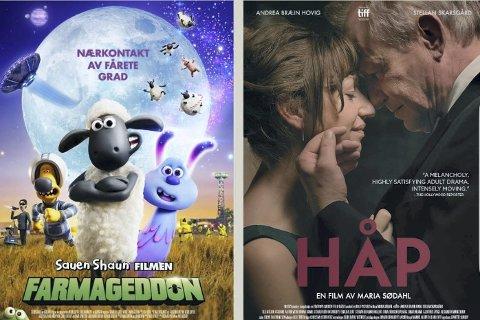 Bygdekinoen i Moelv: viser onsdag klokka 18 «Sauen Shaun filmen Farmageddon», og klokka 20 vises «Håp».